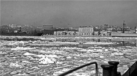 Eski İstanbul Boğazı'ndan kış manzaraları!