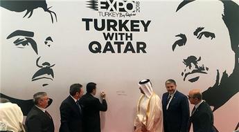 Expo Turkey by Qatar'da Cumhurbaşkanı Erdoğan'ın tablosuna anlamlı imza!
