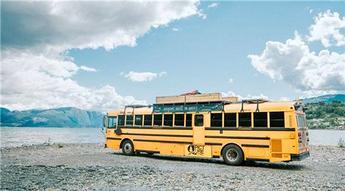 Tekerlekli eve dönen muhteşem otobüs!