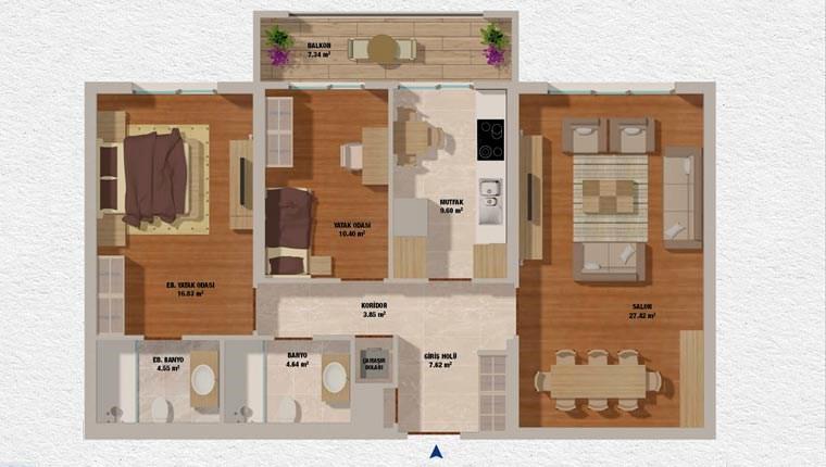 Bizim Evler Güzelce kat planları!