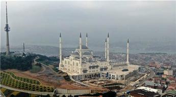 Çamlıca Camisi havadan görüntülendi!