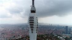 Çamlıca Kulesi havadan görüntülendi