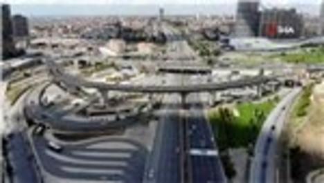 Kadıköy Fikirtepe bağlantı yolları inşaatı havadan görüntülendi