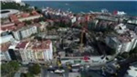 AKM inşaatında son durum havadan görüntülendi