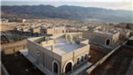 Hasankeyf'te ikamet eden 400 aile için inşa edilen yeni evler
