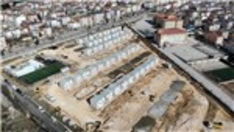 Elazığ'da konteyner kent inşaatı tamamlanıyor