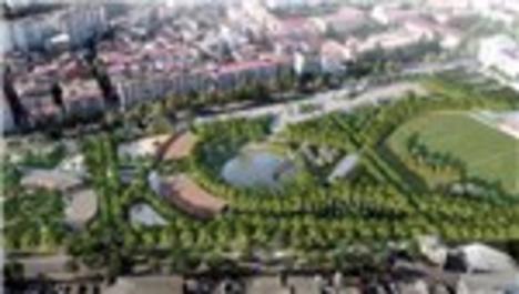 Trabzon'da Millet Bahçesi'nin inşaat çalışmaları sürüyor