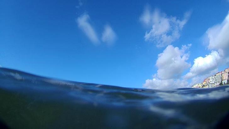 Haliç'teki kirlilik su altı ve havadan görüntülendi