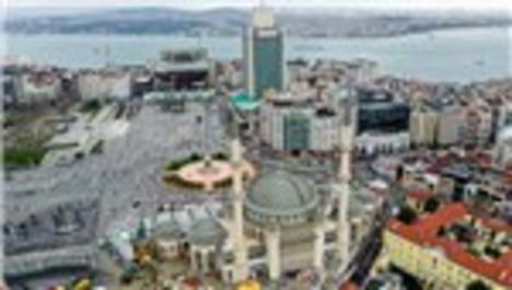 Taksim'de yapılan caminin genel inşaatının yüzde 95'i tamamlandı