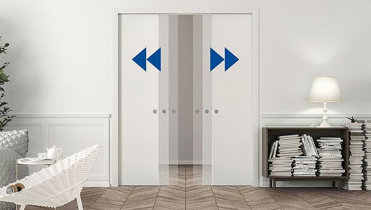 Raylı kapılar çift yönlü veya tek yönlü olarak açılabiliyor.