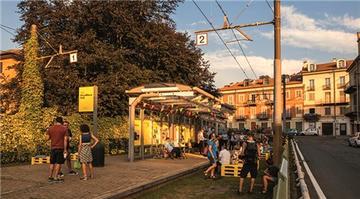 Torino'da kullanılmayan tramvay yolu eğlence merkezine dönüştü!