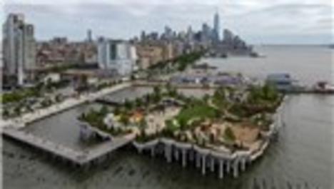 """New York Hudson Nehri üzerine inşa edilen """"Little Island"""" parkı halka açıldı"""