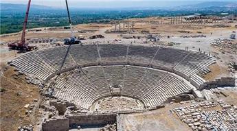 Laodikya Antik Tiyatrosu'nda çalışmalar tamamlandı
