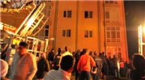Balıkesir TOKİ Evleri'nde yangın çıktı!