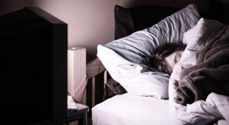 Televizyon karşısında uyumayın!