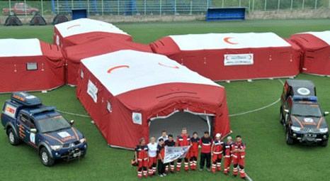 Trabzon Düzköy'de mobil sahra hastanesi kuruldu!