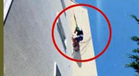 Aegean Dream Otel'in çatısında asılı kaldı!