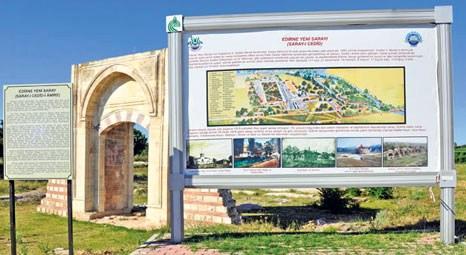 Edirne Sarayı'ndaki restorasyon tüm hızıyla  devam ediyor!