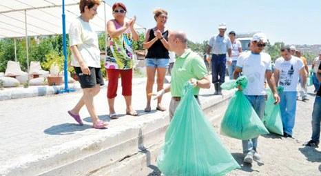 Seferihisar'ın çevre temizliğine Tunç Soyer de katıldı!