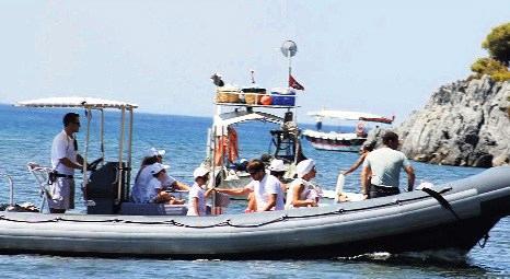 Oleg Denripaska'nın ailesi Marmaris'te caretta carettaların plajına istila etti!