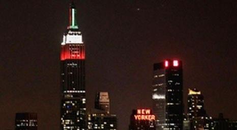 New York Empire State Building, Türk Bayrağı'nın renklerine büründü!