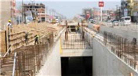 BursaRay metro çalışmalarında 100 metrelik bakır kabloyu çaldılar!