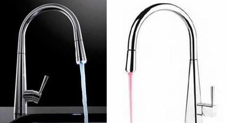 Franke Just Light modeli bataryalar suyun ısısına göre renk değiştiriyor!