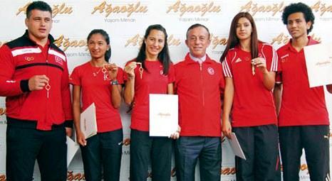 Ali Ağaoğlu, Londra Olimpiyatları'nda madalya alan Türk sporculara My Town Ispartakule'den ev verdi!
