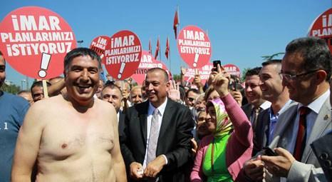 Ataşehir'den İstanbul Büyükşehir Belediyesi'ne imar protestosu!