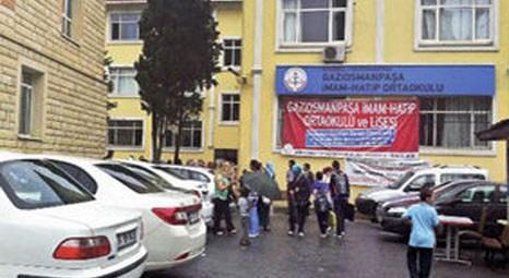 Gaziosmanpaşa Anadolu İmam Hatip Lisesi'nin bahçesi otoparka çevrildi!