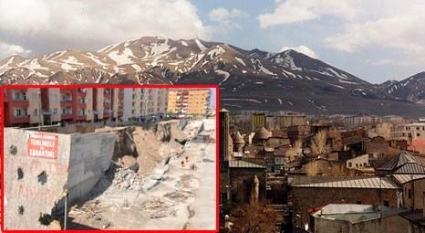 Erzurum'da 6 yıl çivi çakılmayan AVM, sonunda çöktü!