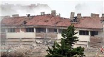 Kapıkule Sınır Kapısı yanında bulunan 2 lojman binası dinamitle yıkıldı!