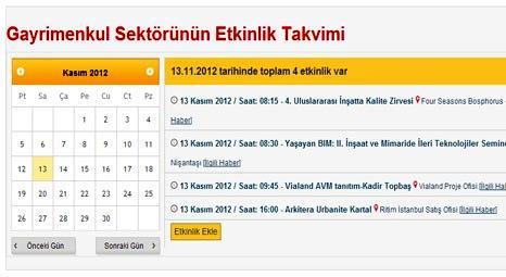 Gayrimenkul etkinlik takvimi Emlaktasondakika.com'da!