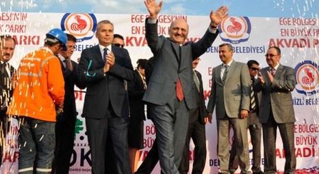 Erdoğan Bayraktar, Denizli'de yapılan Ak Vadi Parkı'nın temel atma törenine katıldı!