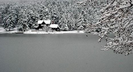 Gölcük Tabiat Parkı soğuk nedeniyle buz tuttu!