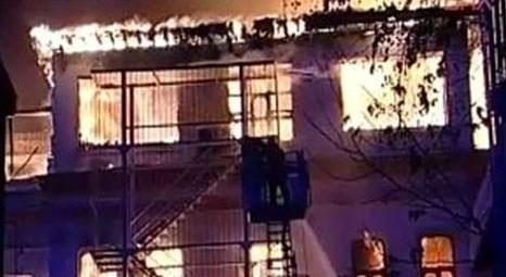 Cağaloğu'ndaki Milli Eğitim Müdürlüğü binasında yangın çıktı!