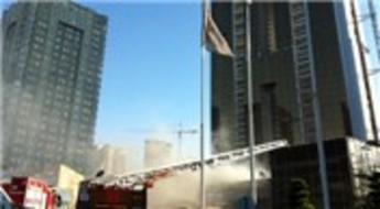 Ağaoğlu Andromeda Plus'ın satış ofisi taşınırken yangın çıktı!