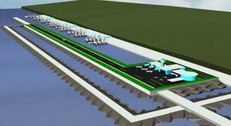 Denize inşa edilen Ordu-Giresun Havalimanı'nda inşaatın yüzde 25'i tamamlandı!