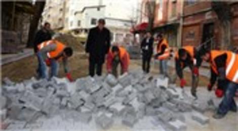 Mustafa Demir Fatih'te yol yapım çalışmalarını denetledi!