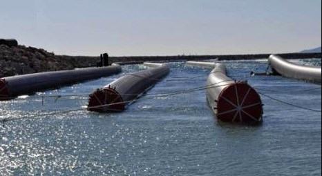 KKTC Su Temin Projesi'nde 26'ncı boru denize yerleştirildi!