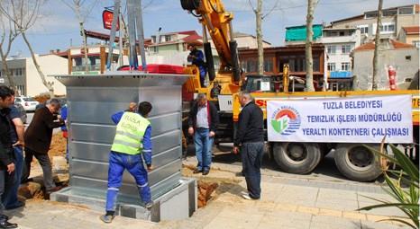 Tuzla Belediyesi daha temiz çevre için çöp konteynerlerini yer altına indiriyor!