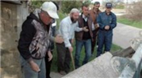Kırşehir'de bir evin kapısının eşiğinde duran taş tarihi eser çıktı!
