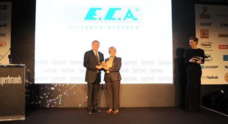 Superbrands Türkiye 2012'den E.C.A'ya süper marka ödülü!