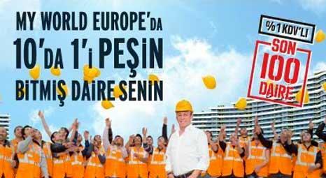 Ağaoğlu My World Europe Başakşehir'de 10'da biri peşin, bitmiş daire senin! Son 100 daire!