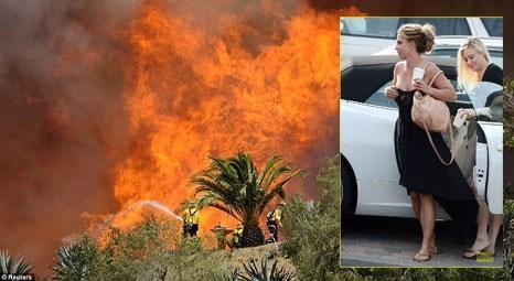 Britney Spears California'daki evine ulaşmak için arabasıyla alevlere daldı!
