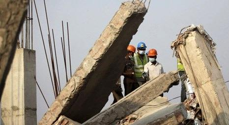 Ruanda'da inşa halindeki bina yıkıldı!