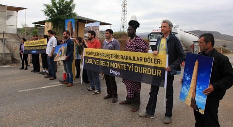 Ilısu Barajı'nın şantiyesini Amazon yerlileri ve Hasankeyfliler bloke etti!