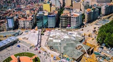 Taksim Meydanı Yayalaştırma çalışması yüzde 70 oranında tamamlandı!