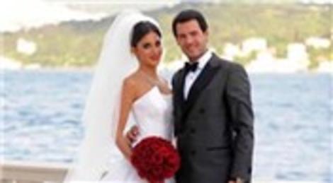 Nazlı Yazıcı ve Kaan Sert, Çırağan Sarayı'nda evlendi!