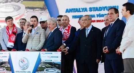 Antalya Stadyumu'nun temelleri atıldı! Maliyeti 100 milyon liradan fazla!